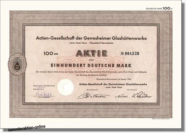 Actien-Gesellschaft der Gerresheimer Glashüttenwerke