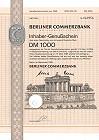 Berliner Commerzbank Genussschein - Aktie