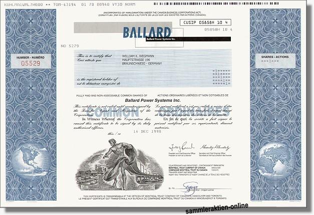 Ballard Power Systems Inc.