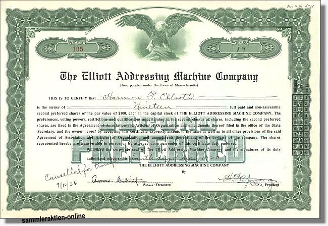 Elliott Adressing Machine Company
