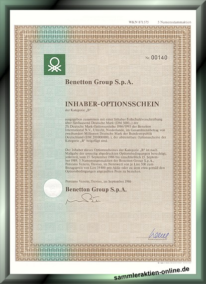 Benetton Group S.p.A.