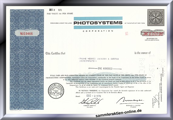 Photosystems Corporation