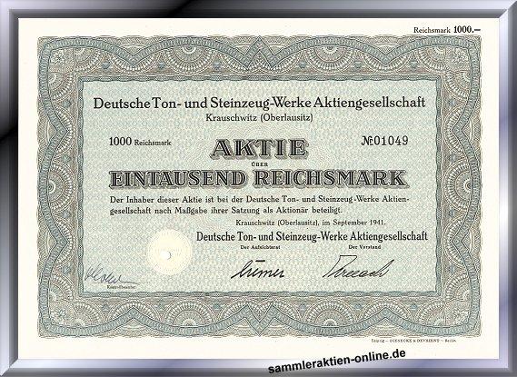 Deutsche Ton- und Steinzeug-Werke Aktiengesellschaft