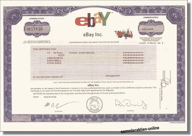 Ebay Inc. - Musterdruck
