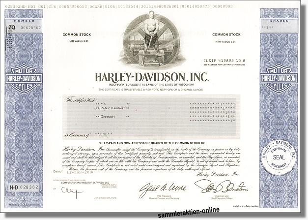 Harley Davidson Inc. - Musterdruck