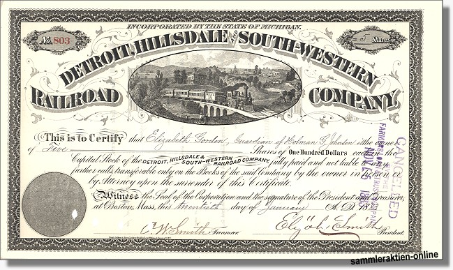 Detroit, Hillsdale and South-Western Railroad Company