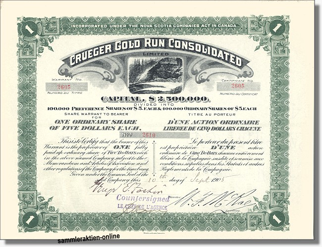Crueger Gold Run Consolidated