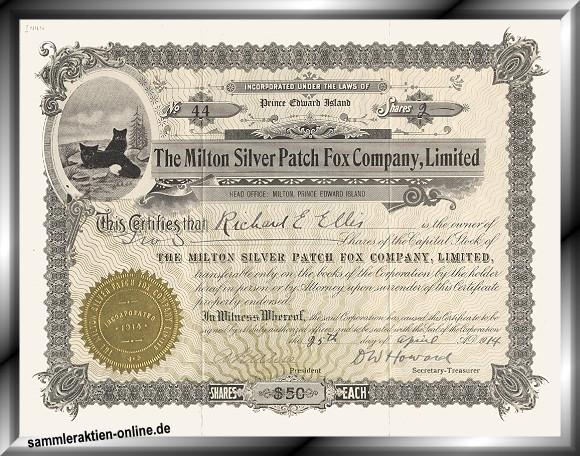 Milton Silver Patch Fox Company