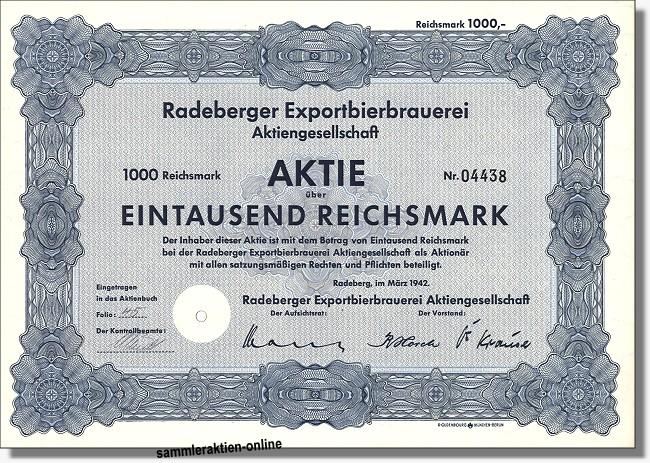 Radeberger Exportbierbrauerei AG