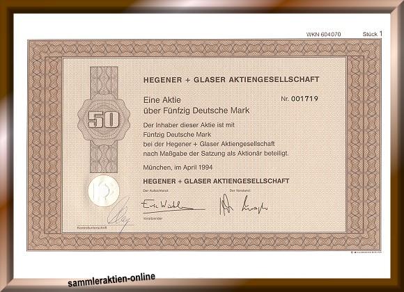 Hegener + Glaser AG