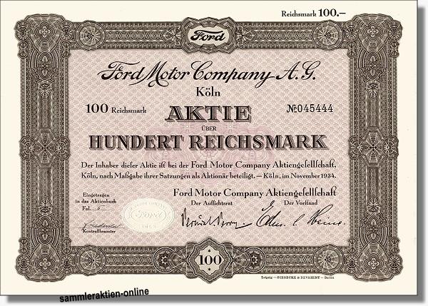 Ford Motor Aktie
