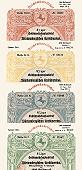 Württembergischer Kreditverein AG<br>4 hochdekorative Goldmark Bonds