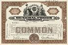 Ganz alte und relative seltene Aktie von General Foods, Anfang der 1930-er Jahre