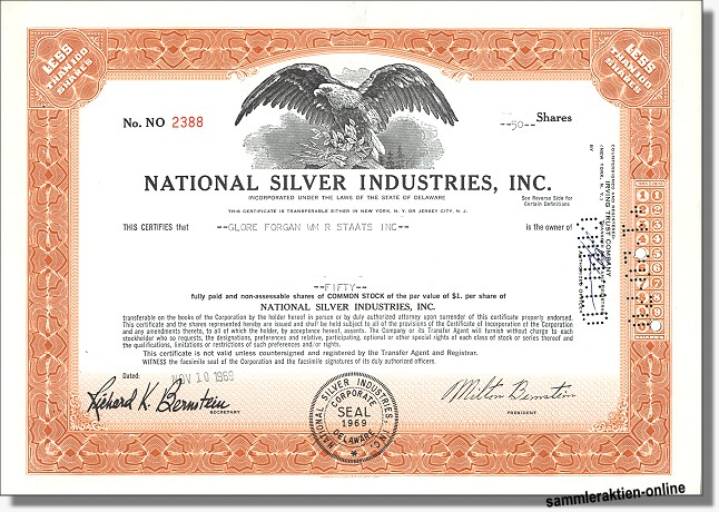 National Silver Industries Inc.