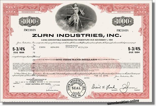 Zurn Industries Inc.
