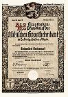 Alter, besonders schöner Pfandbrief der Pfälzischen Hypothekenbank von 1939