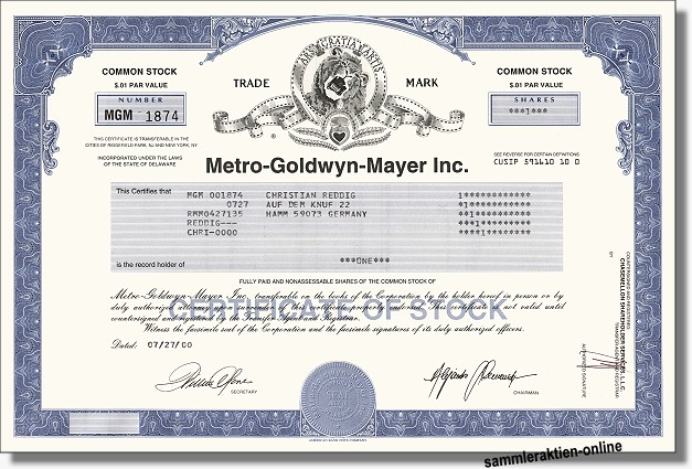 Metro-Goldwyn-Mayer Inc.