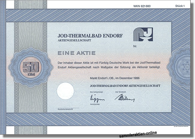 Jod-Thermalbad Endorf Aktiengesellschaft