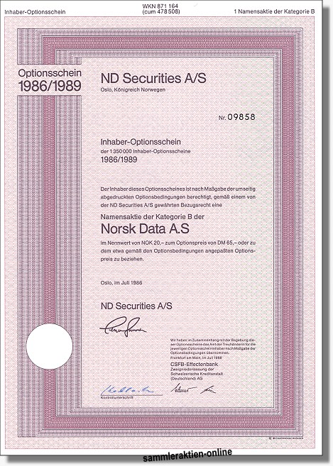 ND Securities - Norsk Data