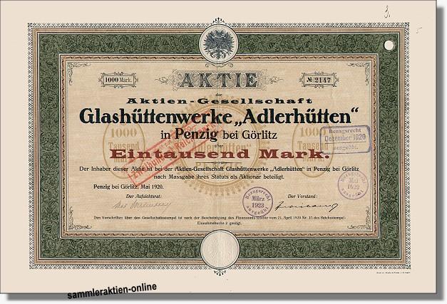Glashüttenwerke Adlerhütten - Weck Einmachgläser