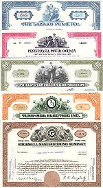 Geschenkset Wirtschaft und Industrie<br>USA Nr.02  - 5 div. Papiere