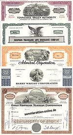 Geschenkset Wirtschaft und Industrie<br>USA Nr.04  - 5 div. Papiere