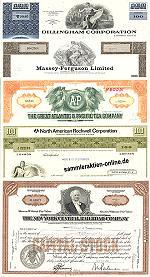 Geschenkset Wirtschaft und Industrie<br>USA Nr.05  - 5 div. Papiere
