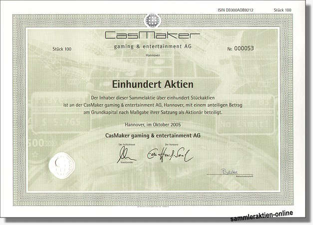 CasMaker gaming & entertainment AG
