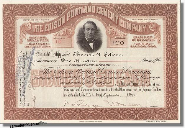 Edison Portland Cement Company - Nachdruck