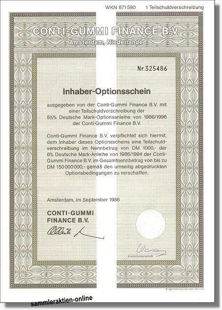 Continental Gummi-Werke Aktiengesellschaft