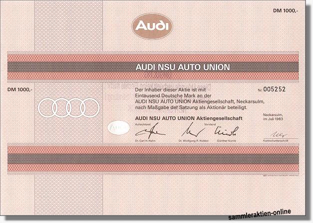 Audi Aktien
