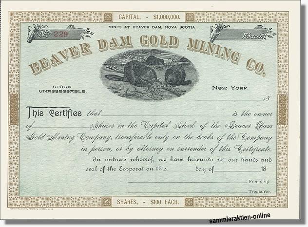 Beaver Dam Gold Mining Co.
