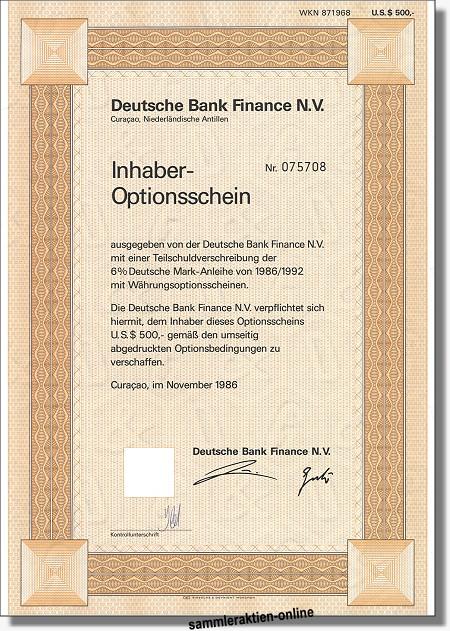 Deutsche Bank Finance