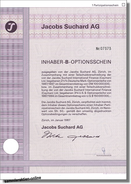 Jacobs Suchard AG