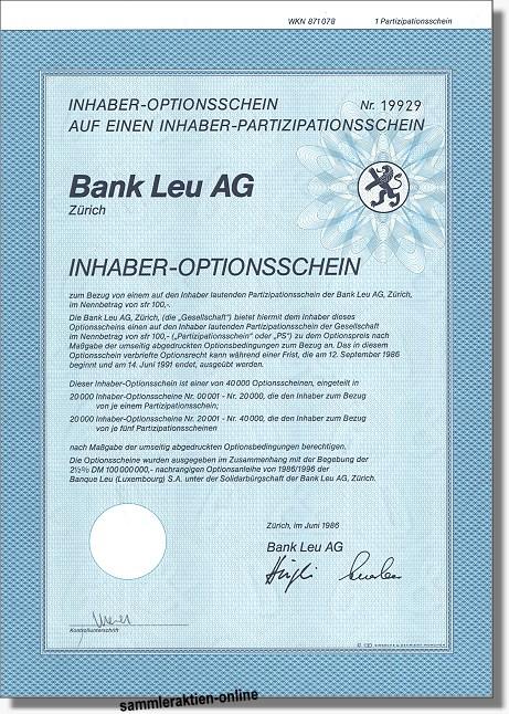 Bank Leu AG