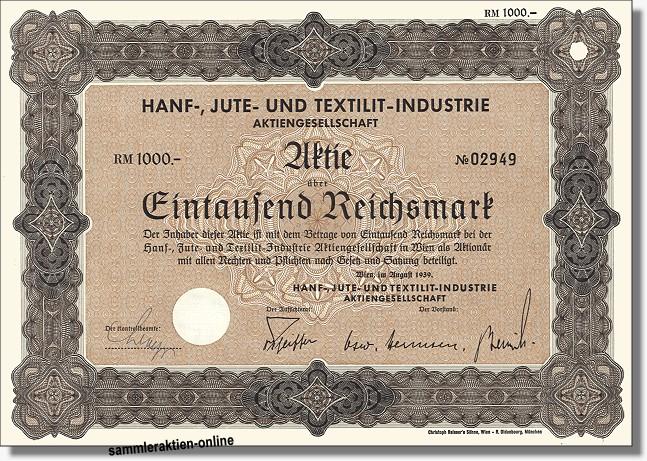 Hanf-, Jute und Textilit-Industrie