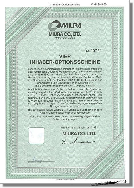 Miura Co., Ltd.