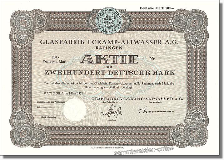 Glasfabrik Eckamp-Altwasser AG