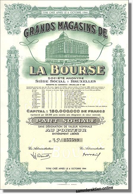 Grands Magasins de la Bourse - Börse Brüssel