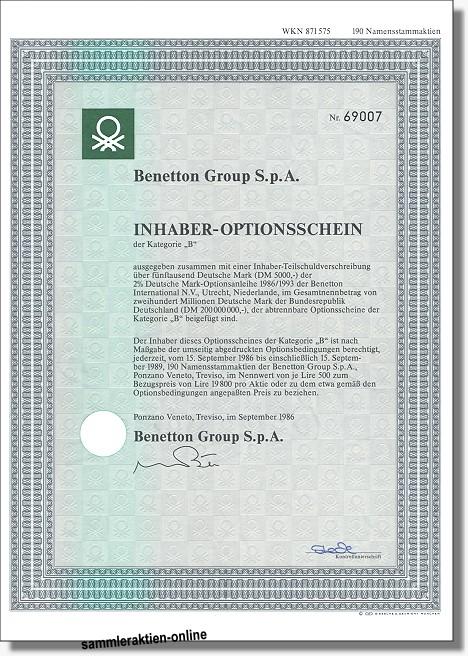 Benetton Group S.p.A.