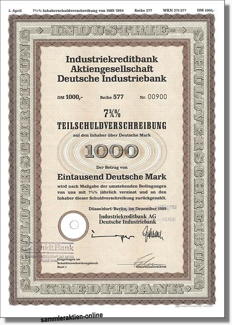 IKB Industriekreditbank AG - Deutsche Industriebank