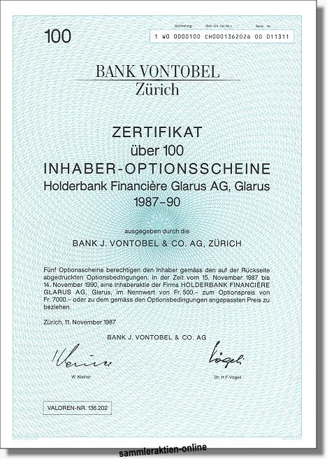 Bank Vontobel - Holderbank Financiere (Holcim)