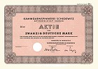 Kammgarnspinnerei Schedewitz AG Aktie