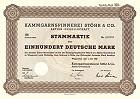 Kammgarnspinnerei Stöhr & Co. Aktien-Gesellschaft