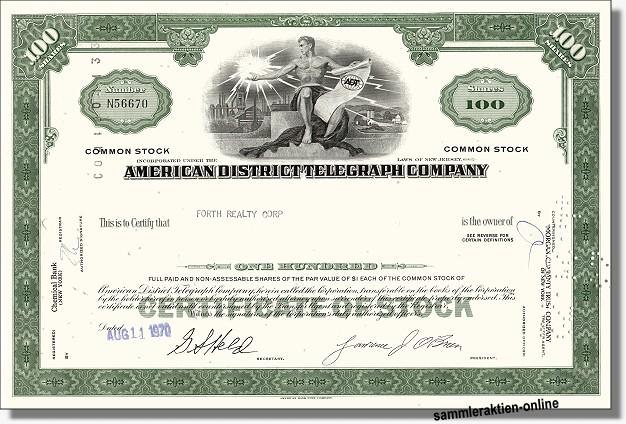 American District Telegraph Company - Tyco
