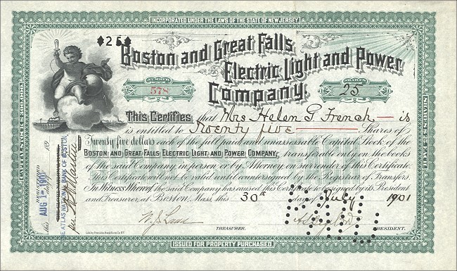 Boston & Great Falls Electric Light & Power
