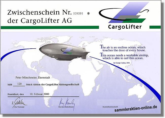 Cargolifter AG - Nachdruck