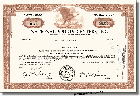 National Sports Centers Inc.