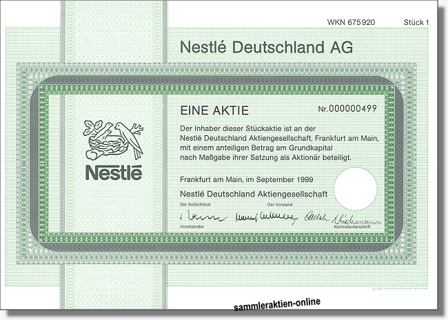 Nestle Aktie Dividende 2021