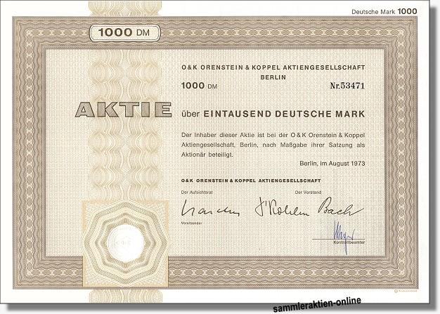 Orenstein & Koppel AG, O & K